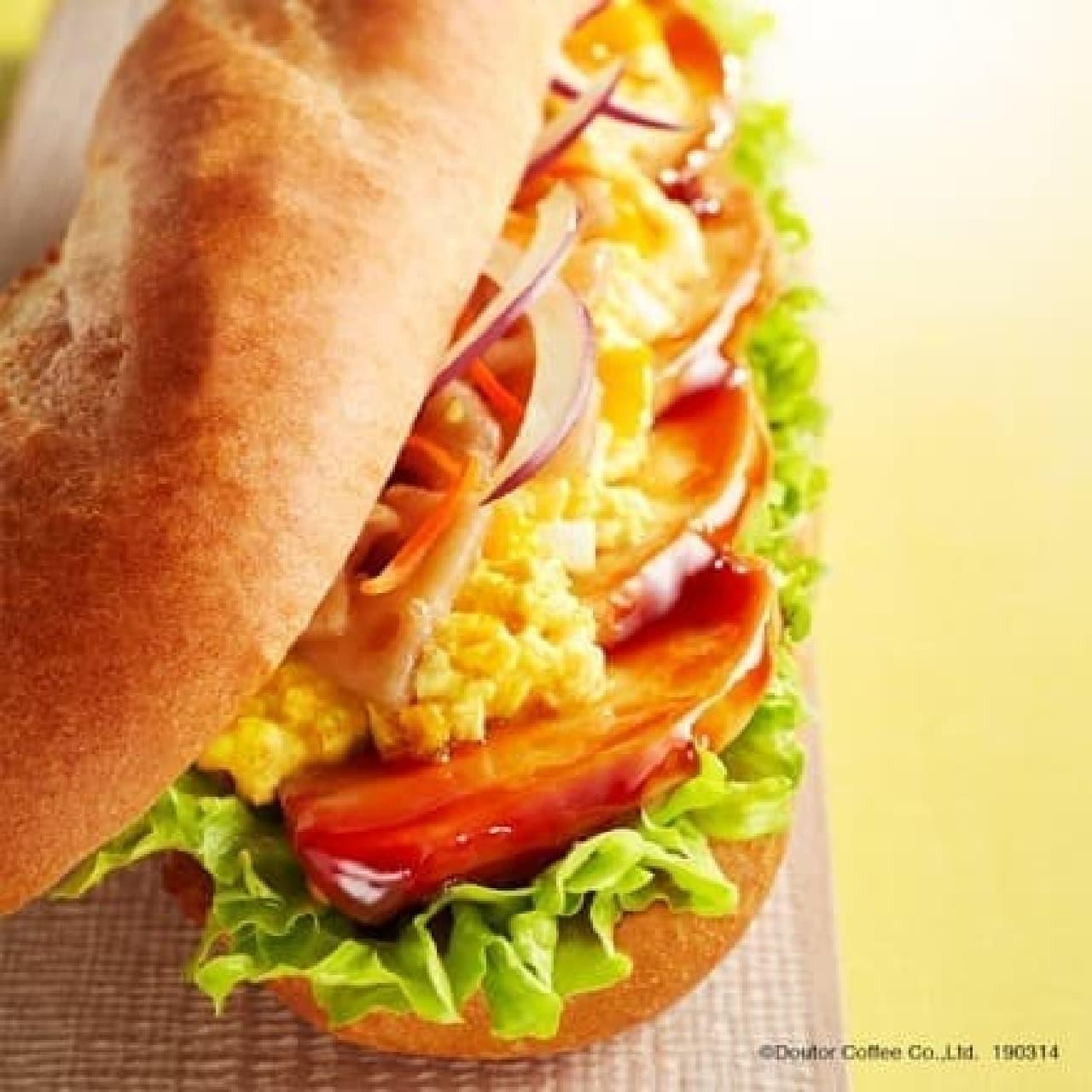 ドトール「ミラノサンドC 照り焼きチキンとタマゴサラダ」