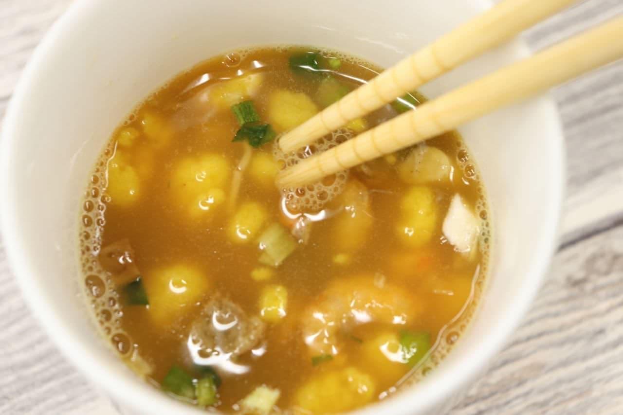 カップ麺の残り汁で作る、茶碗蒸し