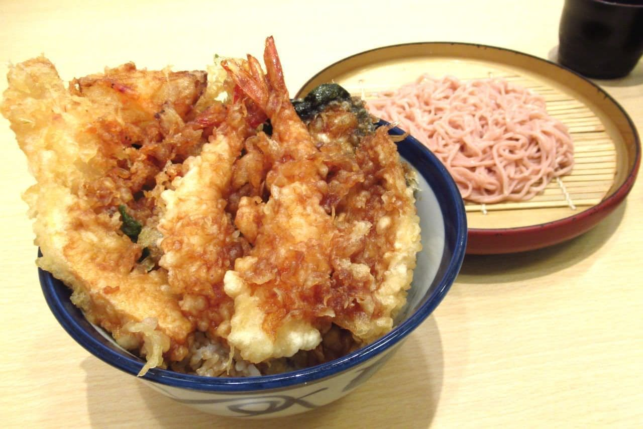 てんや「えびえび桜海老天丼」と「桜そば」