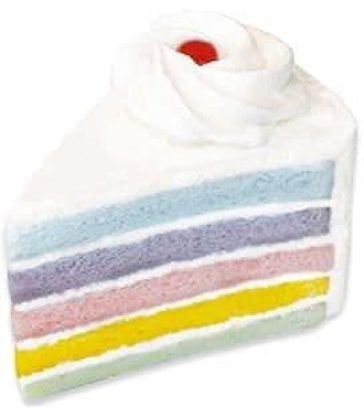 不二家洋菓子店「夢色レインボーケーキ」