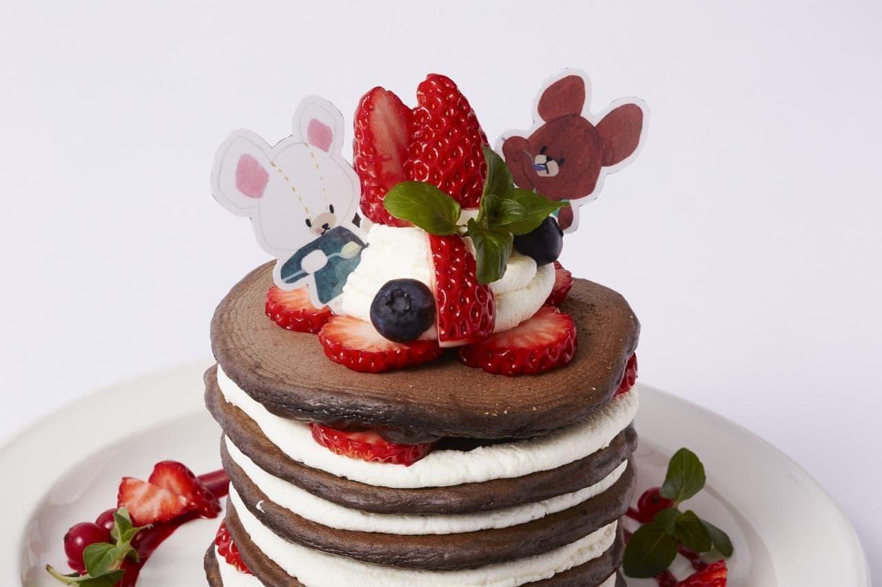 J.S パンケーキカフェ「ジャッキー&デイビッドのショコラベリーパンケーキ」