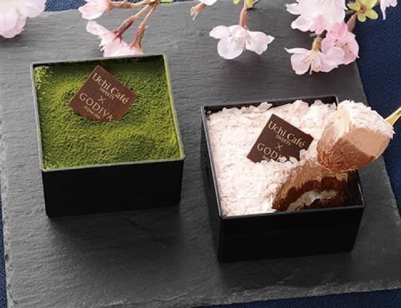 ローソン「Uchi Cafe×GODIVA ル・ジャポネ・デュ・プランタン」