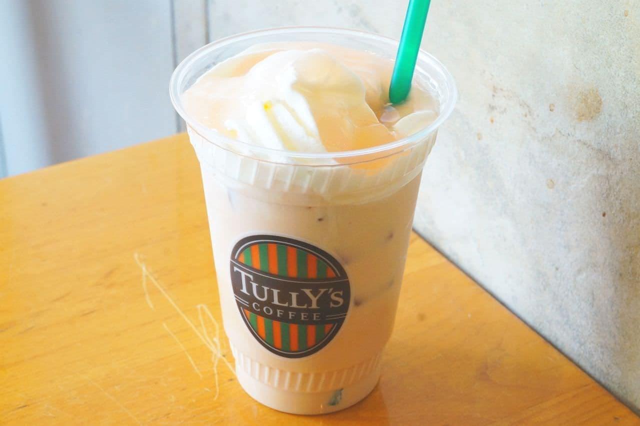 タリーズコーヒー「&TEA ピーチコンフィチュールロイヤルミルクティー」