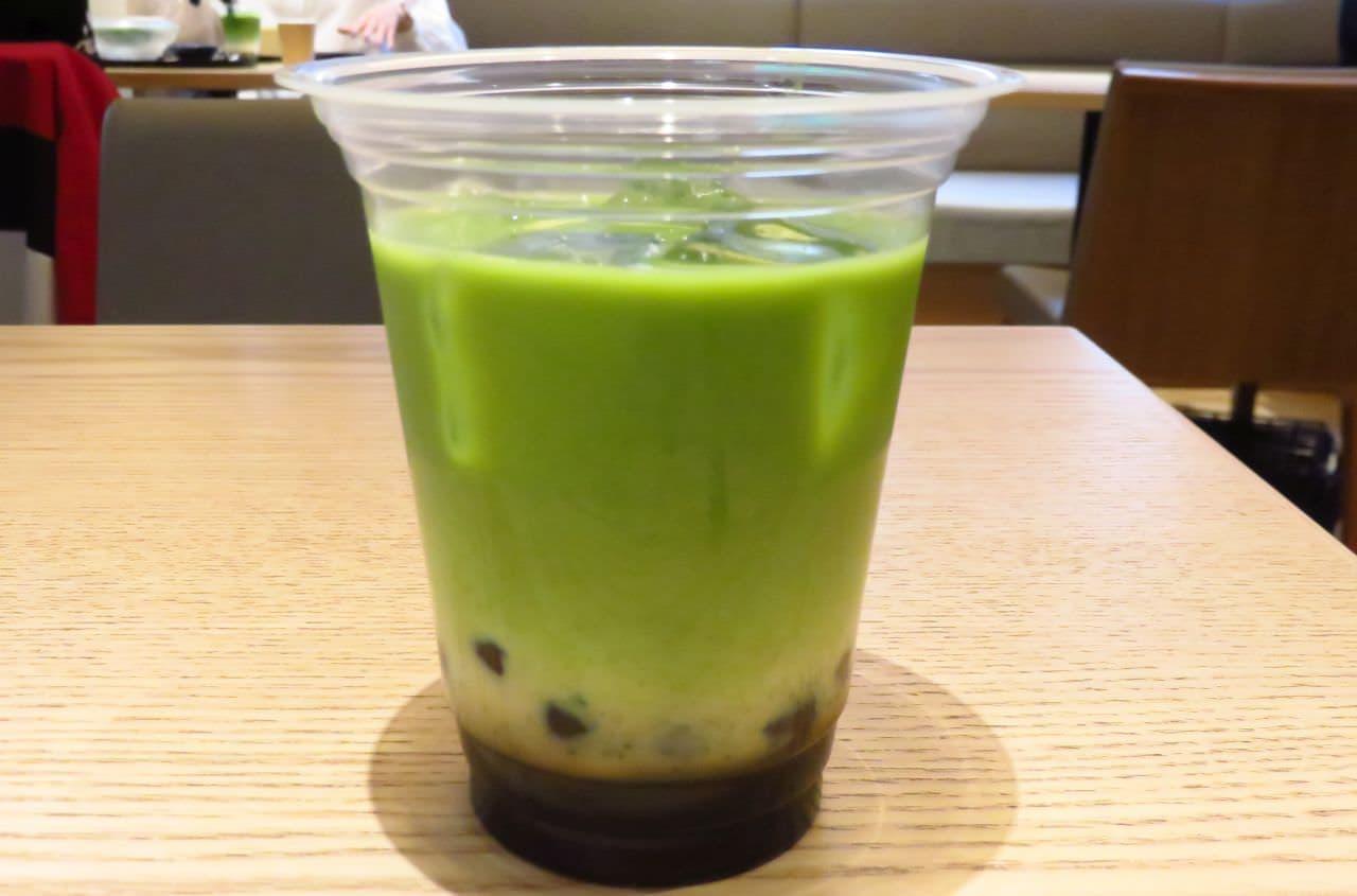 やなぎ茶屋「黒糖タピオカ抹茶ラテ」