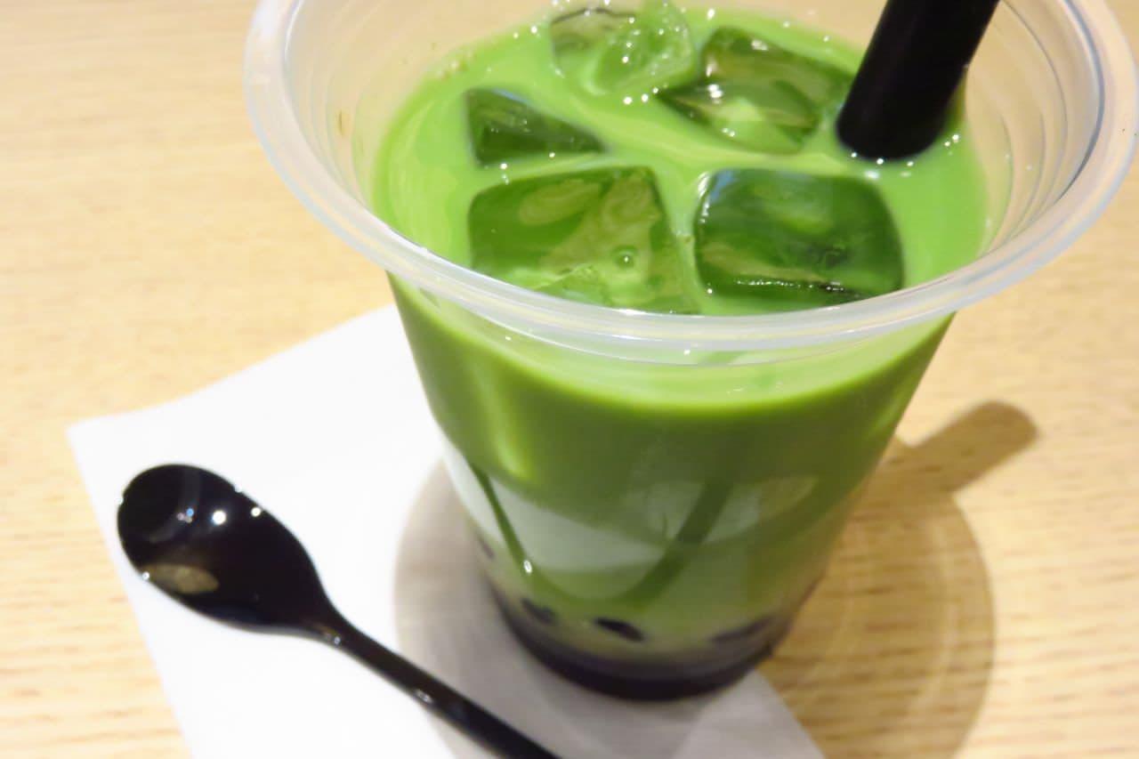 やなぎ茶屋「黒糖タピオカ抹茶ラテ(アイス/ホット)」