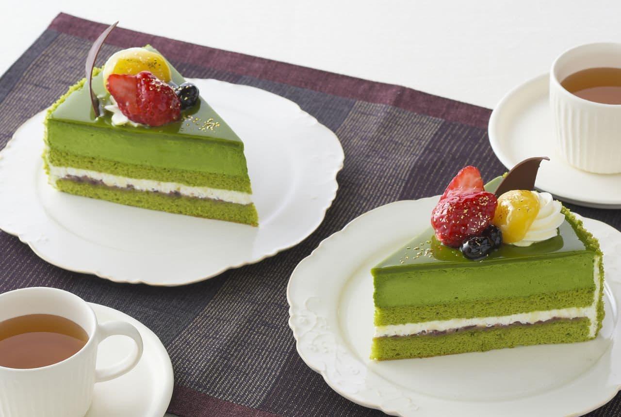 銀座コージーコーナー「茶師十段監修 濃厚抹茶ケーキ」