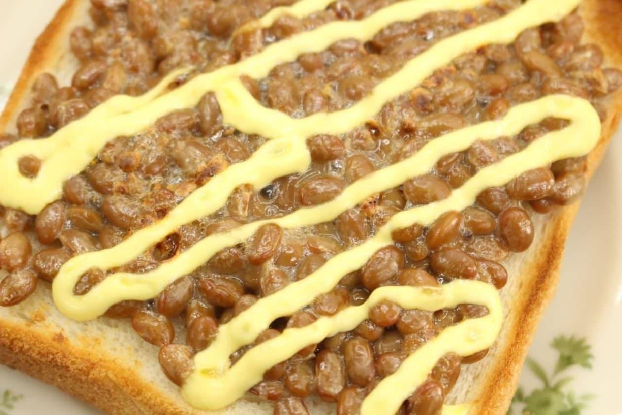 簡単レシピ「納豆マヨトースト」