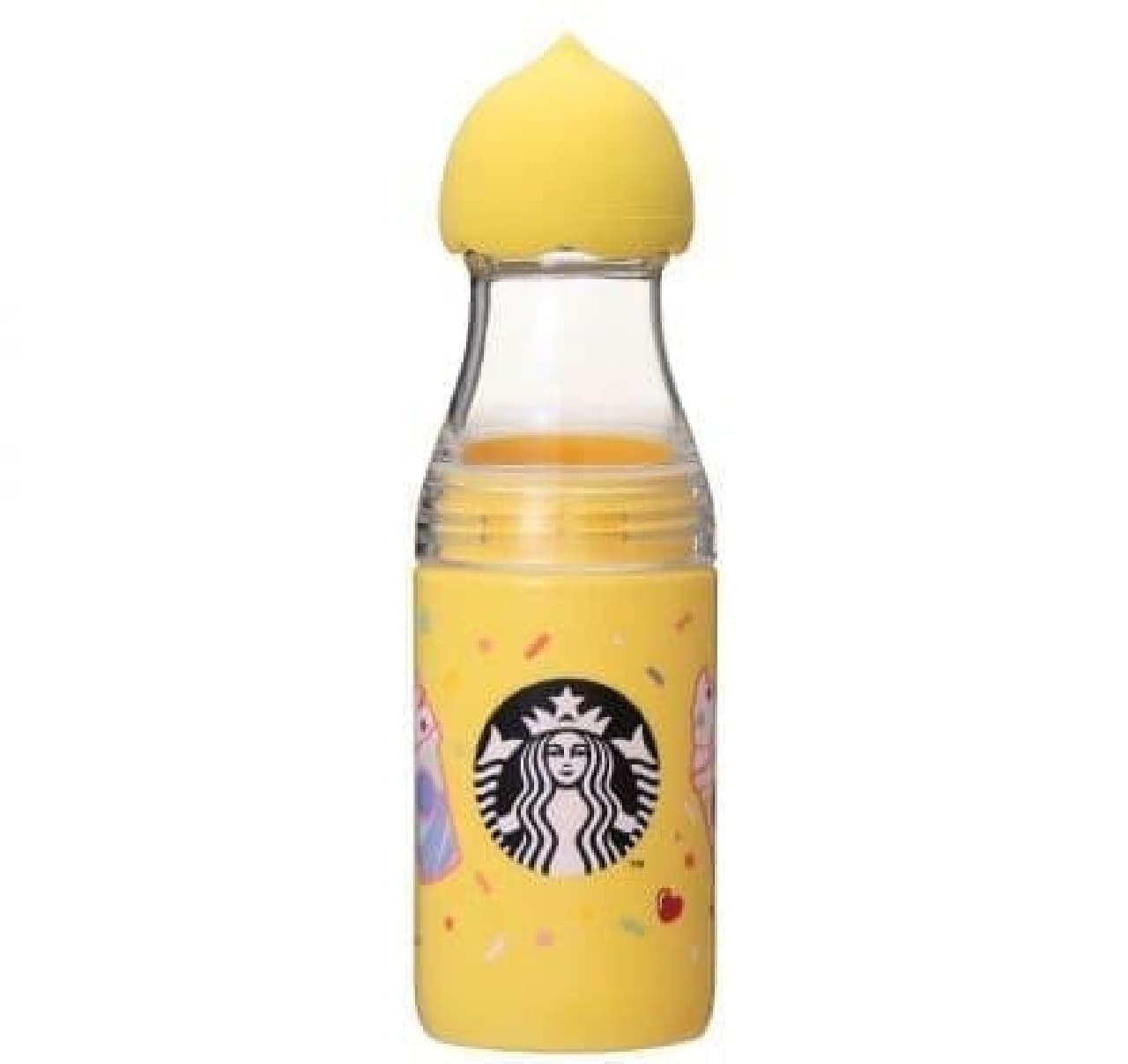 スターバックス「レモンキャップ&リッドサニーボトルイエロー500mll」