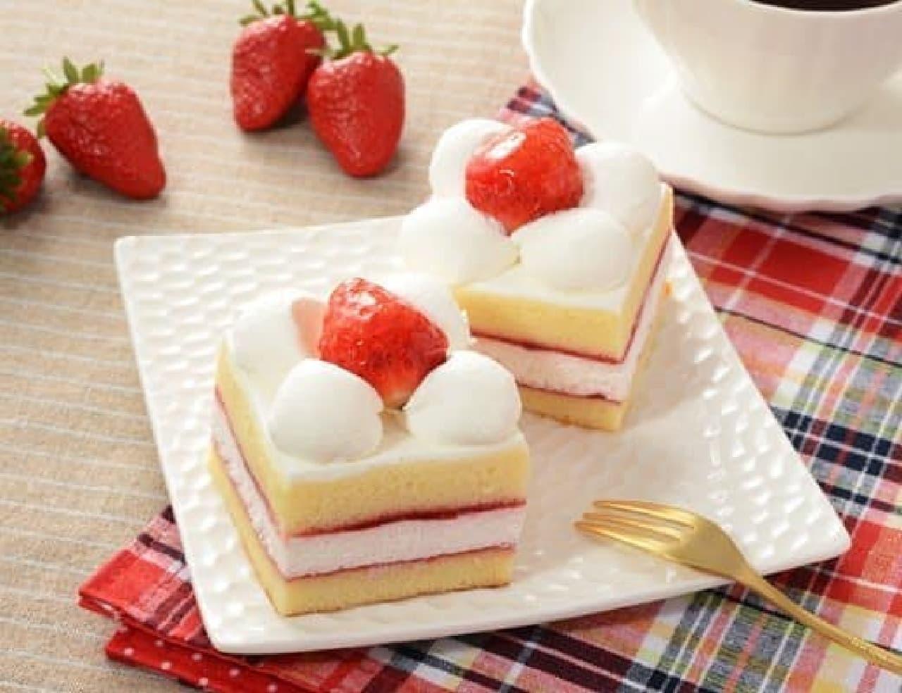ローソン「苺のショートケーキ 2個入り」