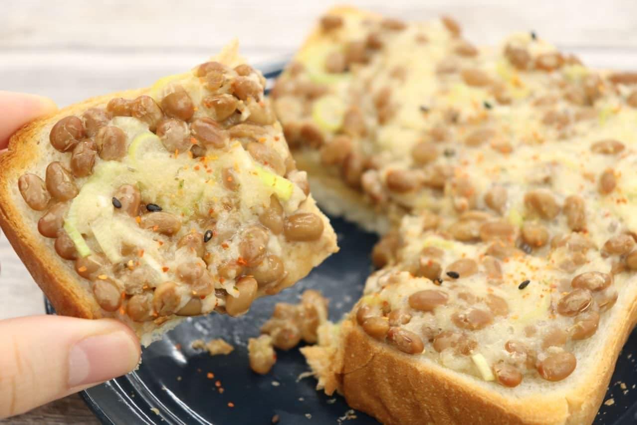 アレンジトースト「納豆長芋トースト」