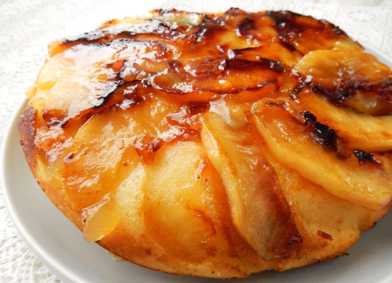 ホットケーキミックスで簡単「りんごのタルトタタン風」