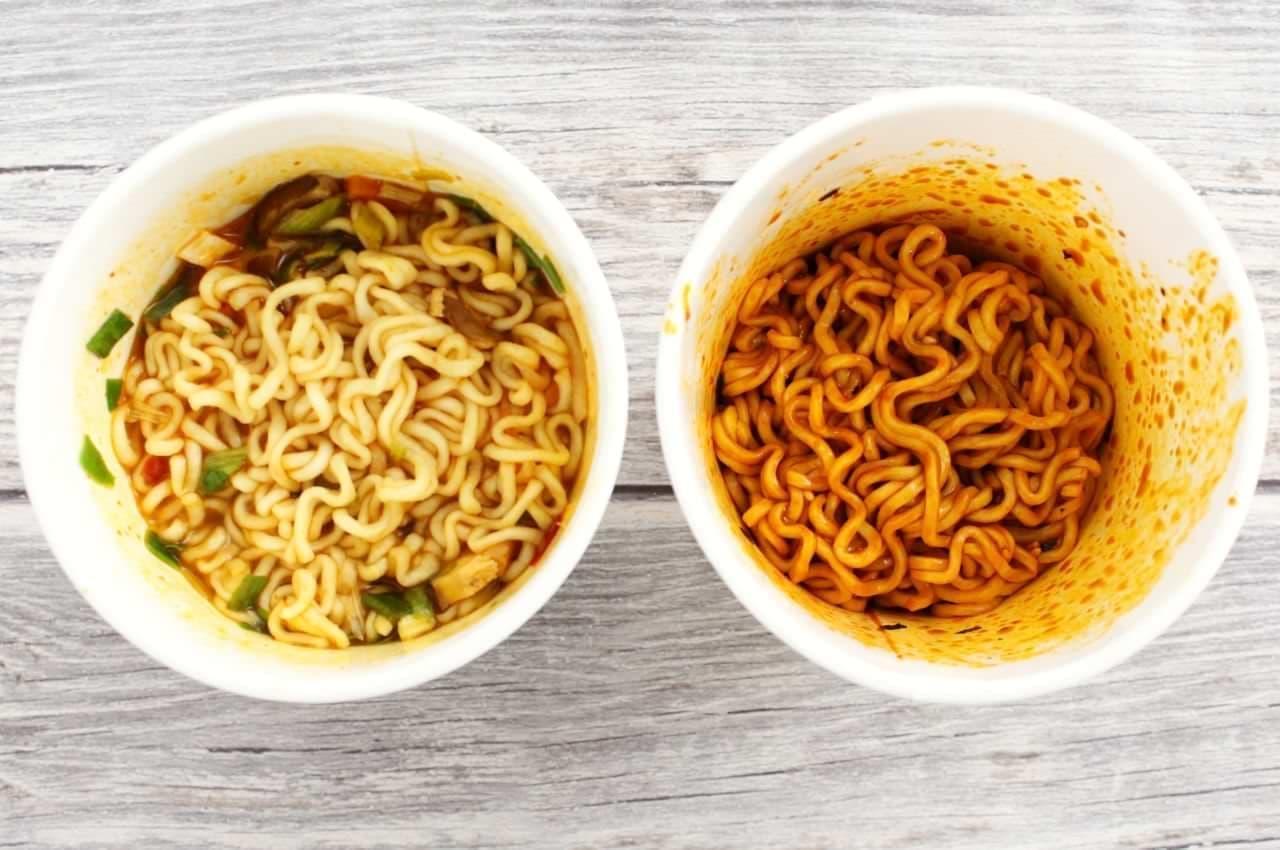 「辛ラーメン」と「激辛チーズブルダック炒め麺」食べ比べ