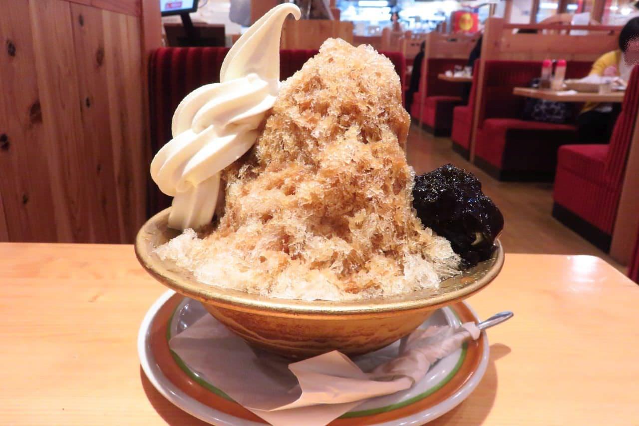 コメダのかき氷「カフェオレ氷」