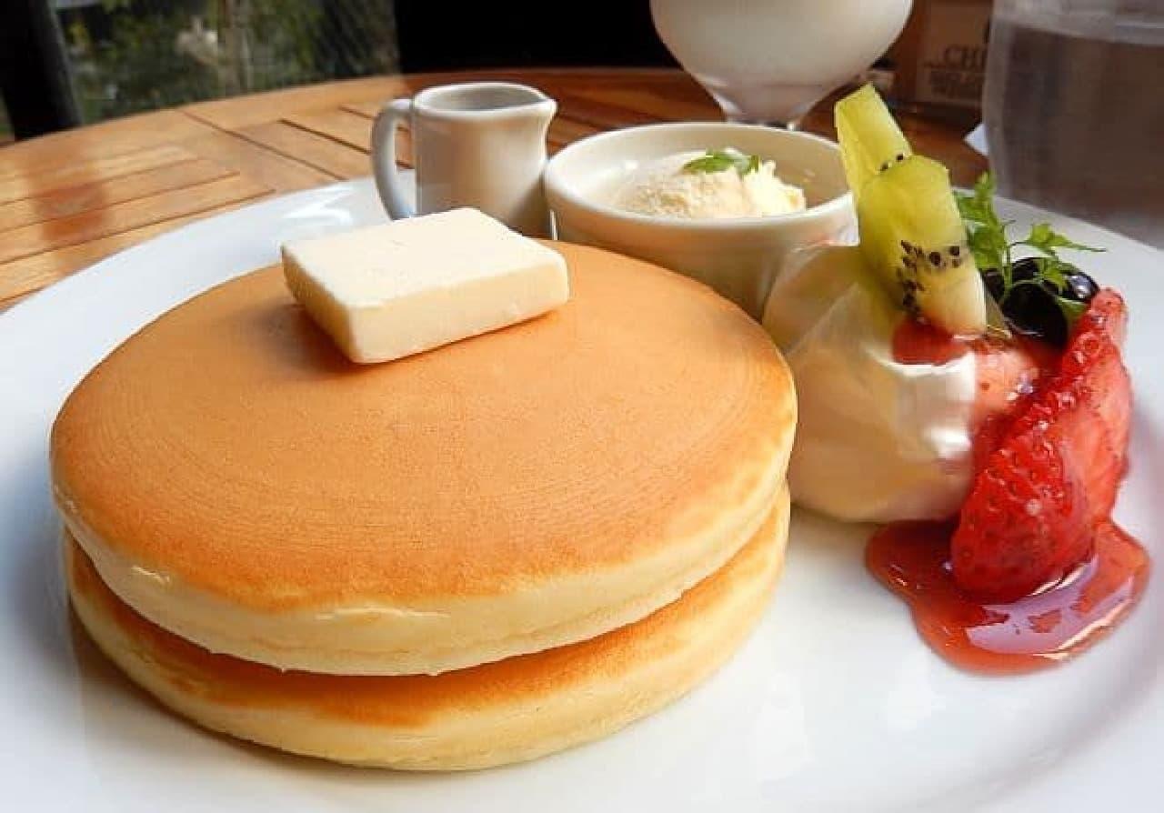 チルルコーヒー「銅板パンケーキ」