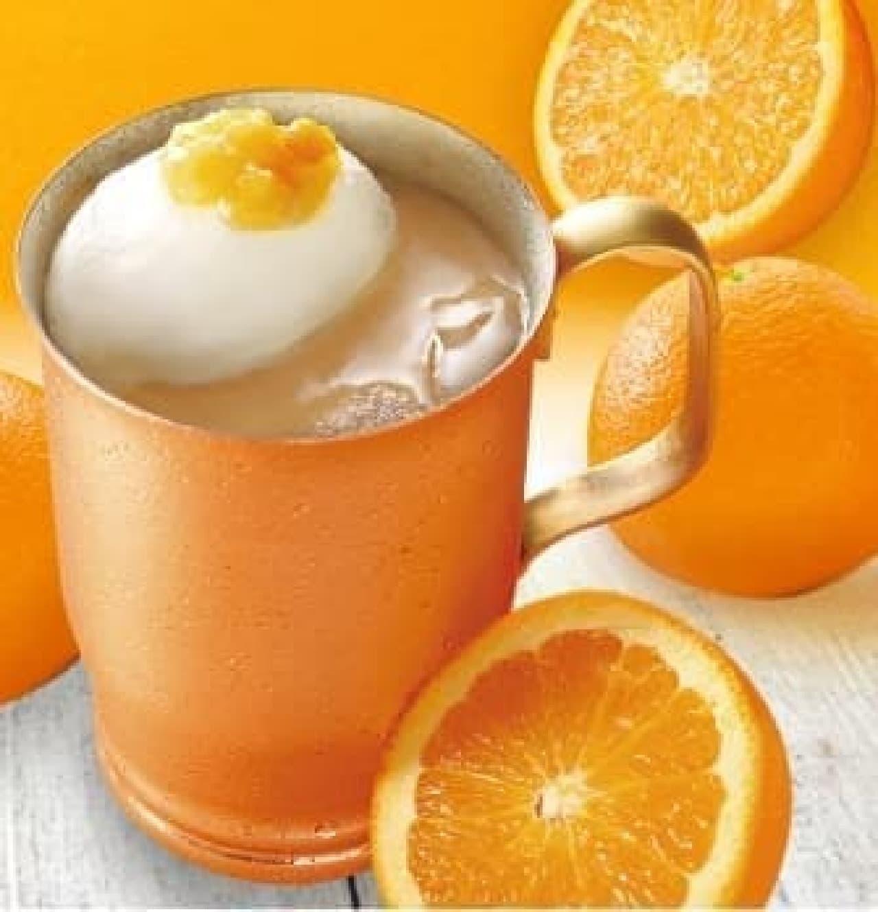 上島珈琲店「オレンジミルク珈琲」