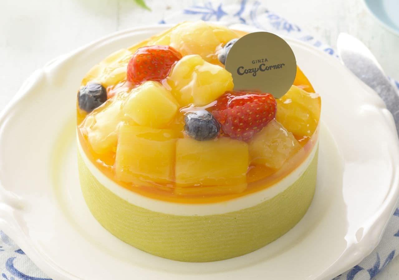 銀座コージーコーナー「ごろごろ果実のサマープリンセス(4号)」