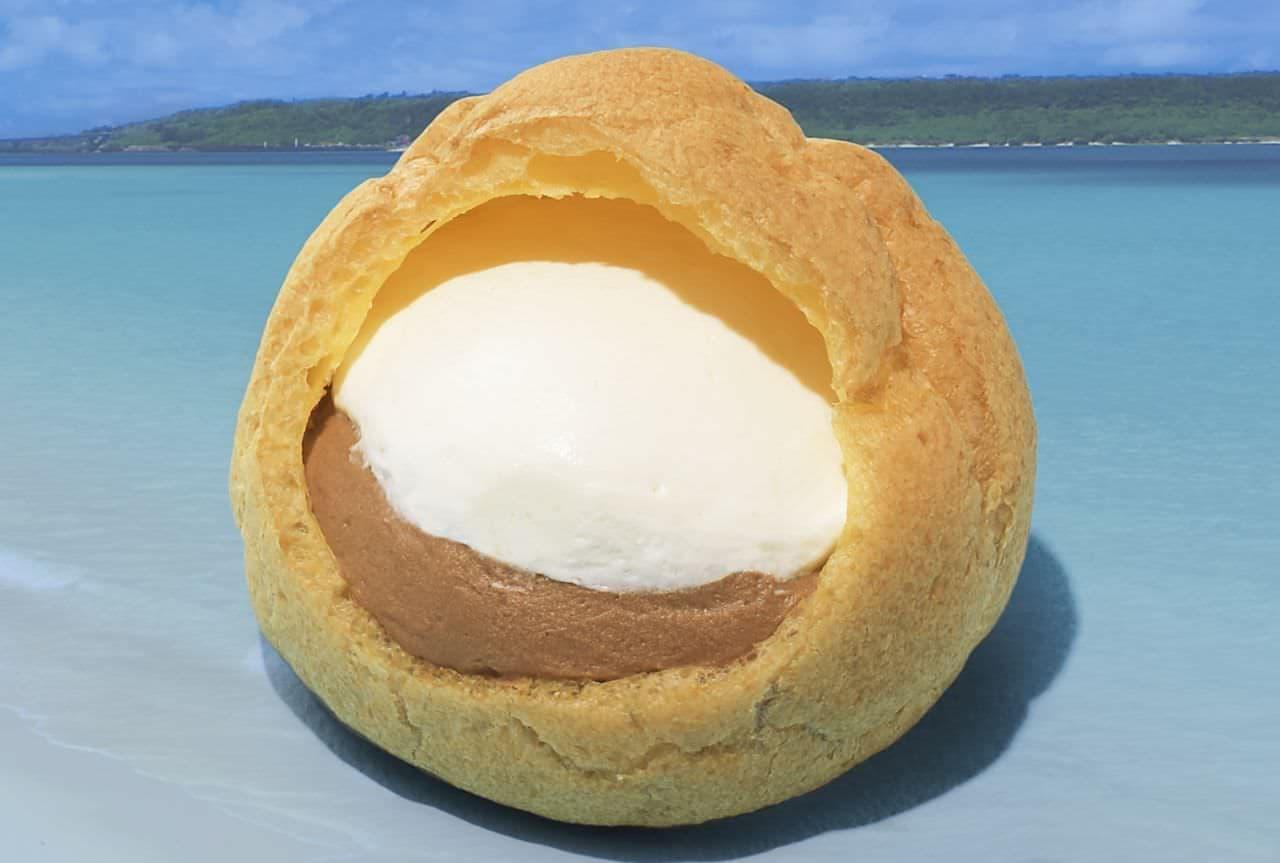 銀座コージーコーナー「ジャンボシュークリーム(ホイップ&塩チョコ)」