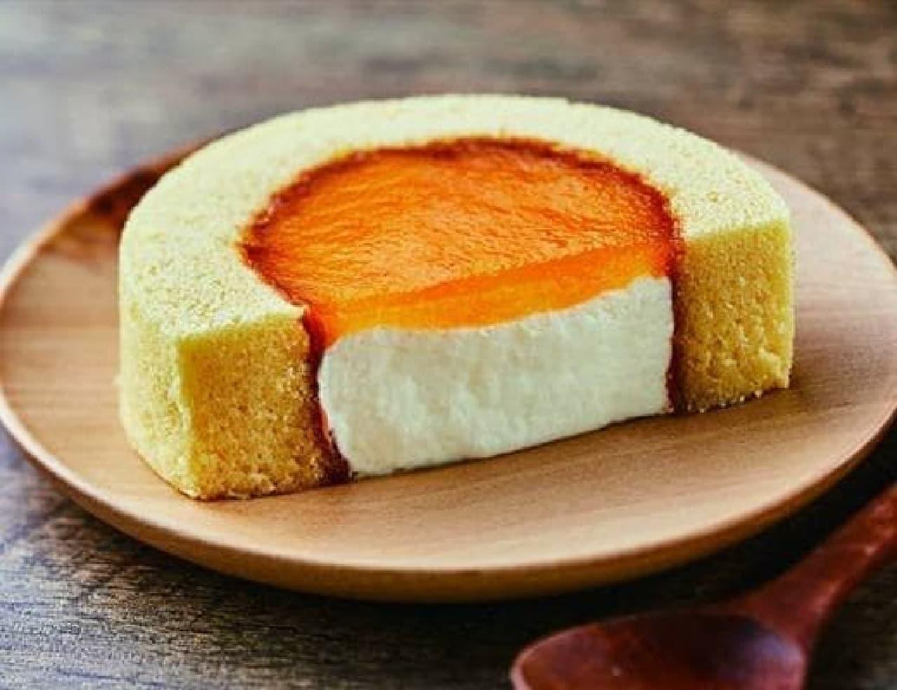 ローソン「Uchi Cafe×PABLO チーズロールケーキ」