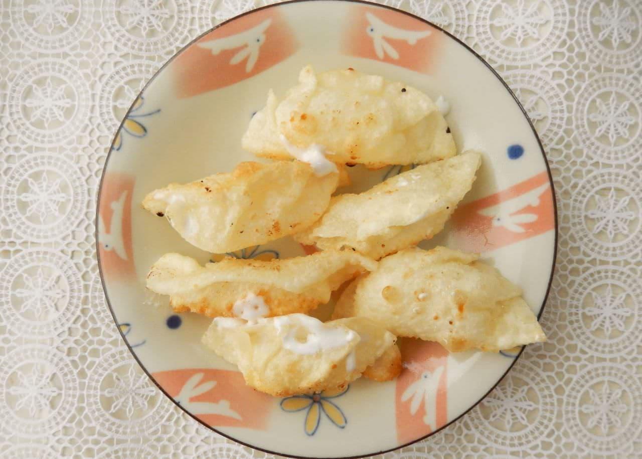 マシュマロ揚げギョウザのレシピ