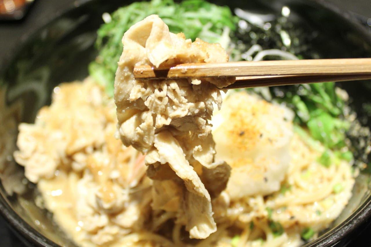 洋麺屋五右衛門「豚しゃぶとたっぷり香味野菜の冷製和風おろし」