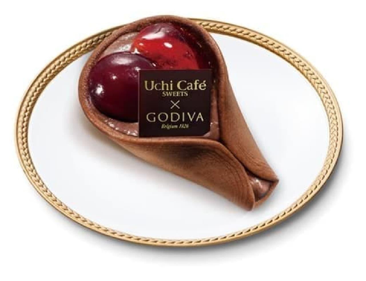 ローソン「Uchi Cafe×GODIVA チェリーショコラワッフル」