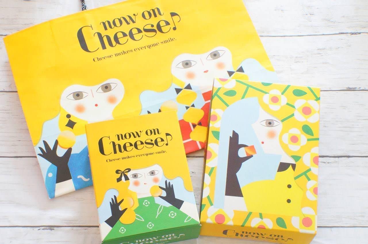 ナウ オン チーズの紙袋とパッケージ