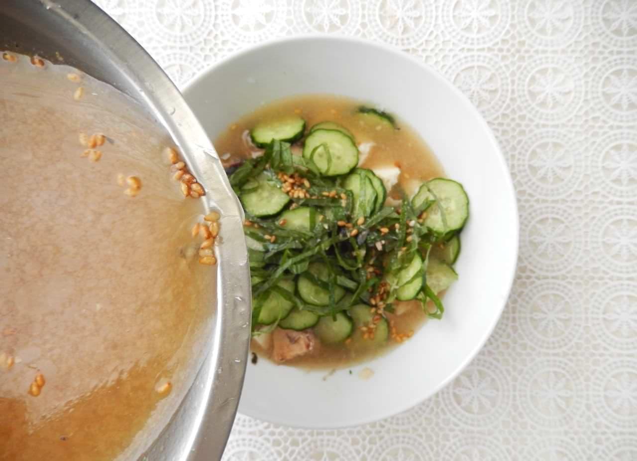 「さば缶の冷や汁」簡単レシピ