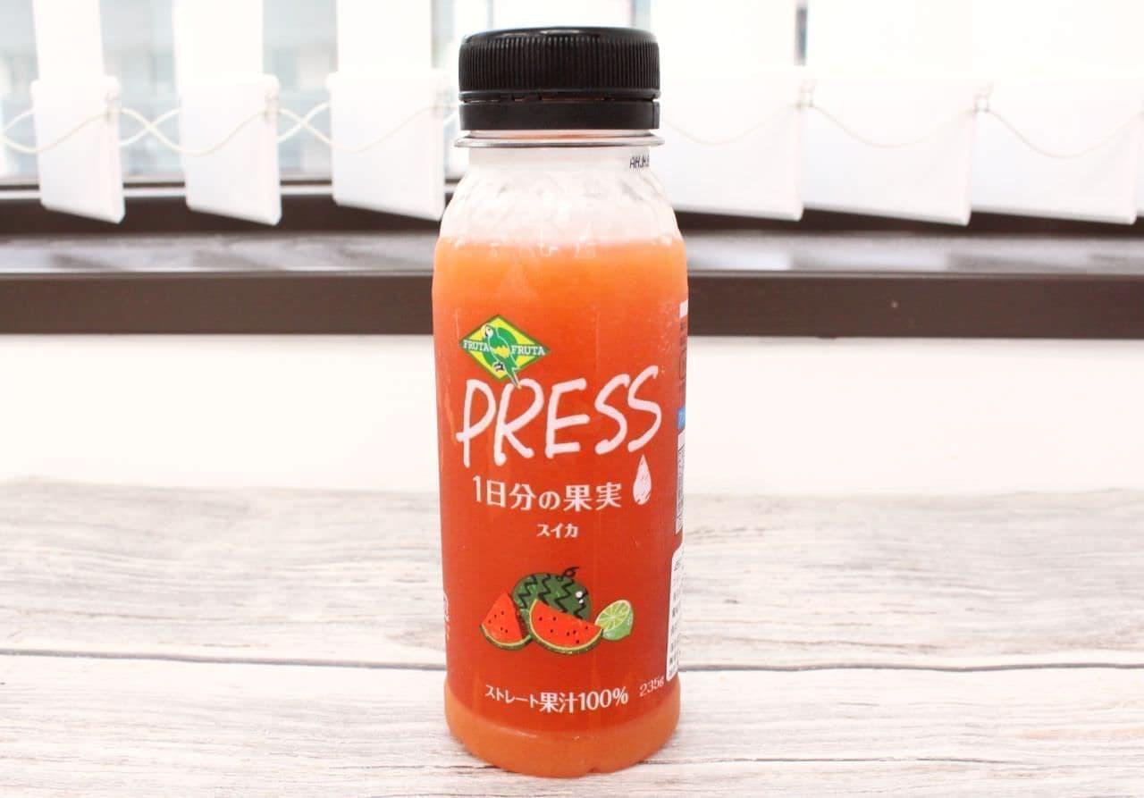 果汁100%の「スイカジュース」
