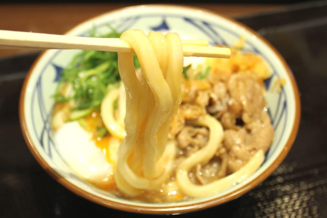 丸亀製麺「牛とろ玉うどん」