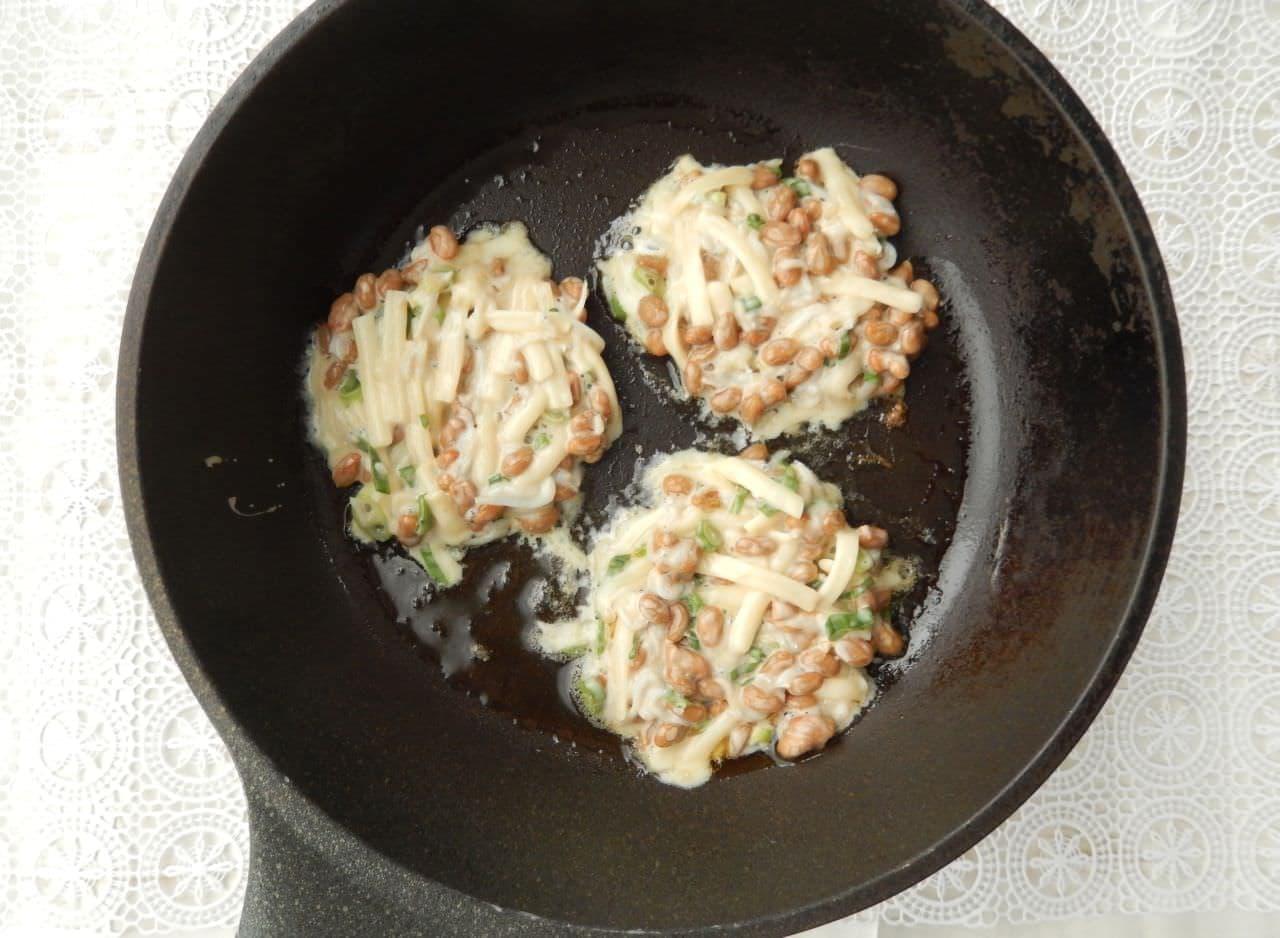 「納豆チーズせんべい」の簡単レシピ