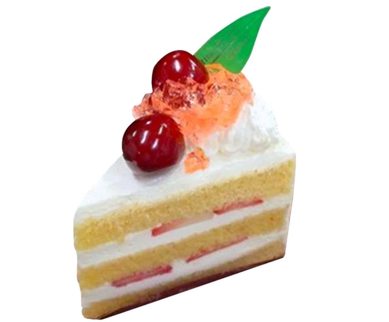 シャトレーゼ「アメリカンチェリーと苺のプレミアムショートケーキ」