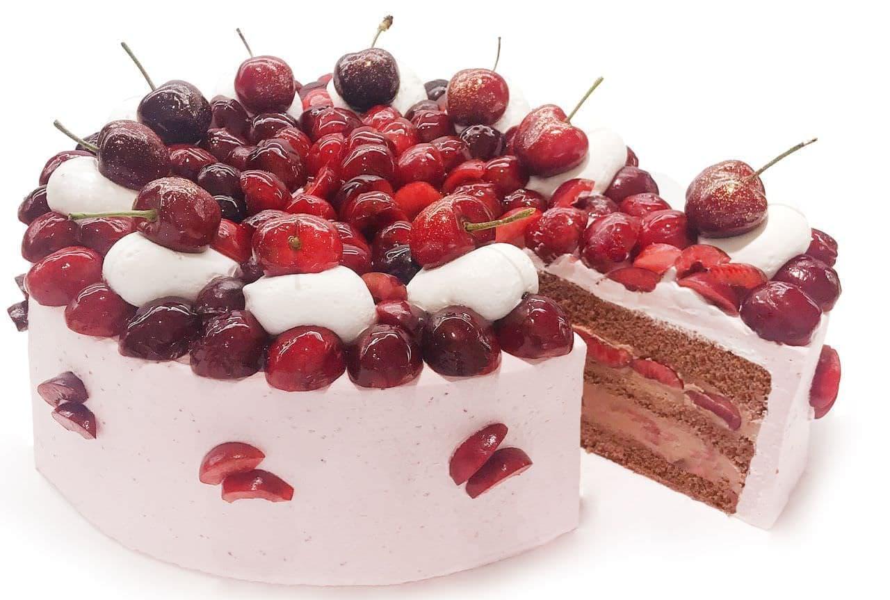 カフェコムサ「アメリカンチェリーのショコラショートケーキ」