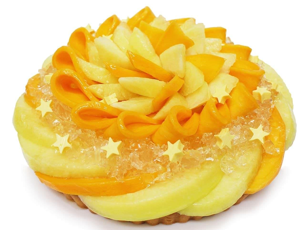 カフェコムサ「彦星 ~静岡県産マスクメロンとマンゴーのケーキ~[ベース:フロマージュブラン]」