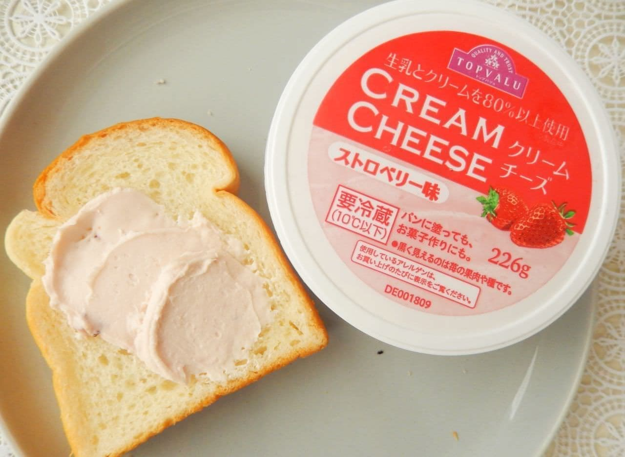 イオン トップバリュ「クリームチーズ ストロベリー味」