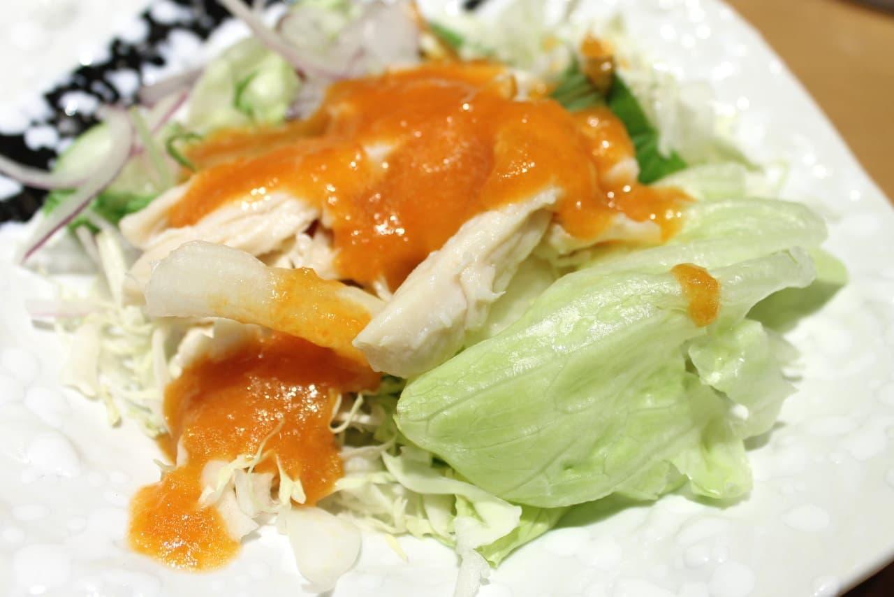 やよい軒「夏越ごはんと蒸し鶏サラダの定食」