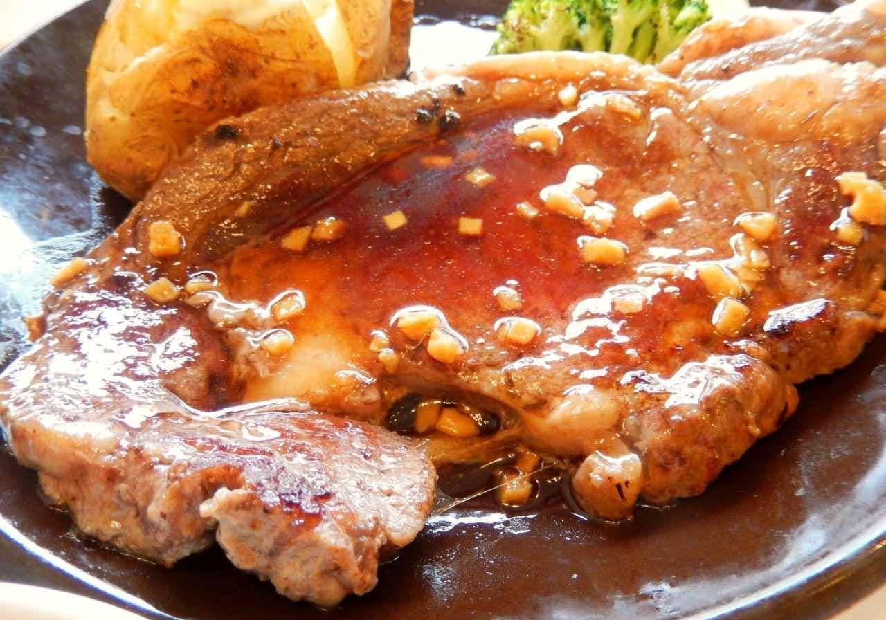 ジョナサンのステーキ2種を食べ比べ