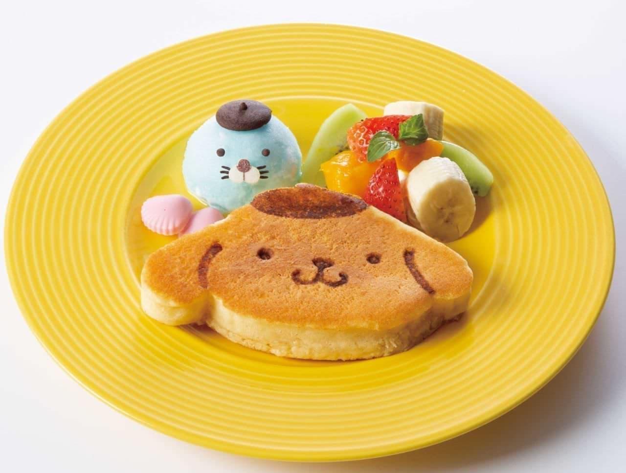 ポムポムプリンカフェ「ポムポムプリンのパンケーキ~ぼのぼのと一緒~」