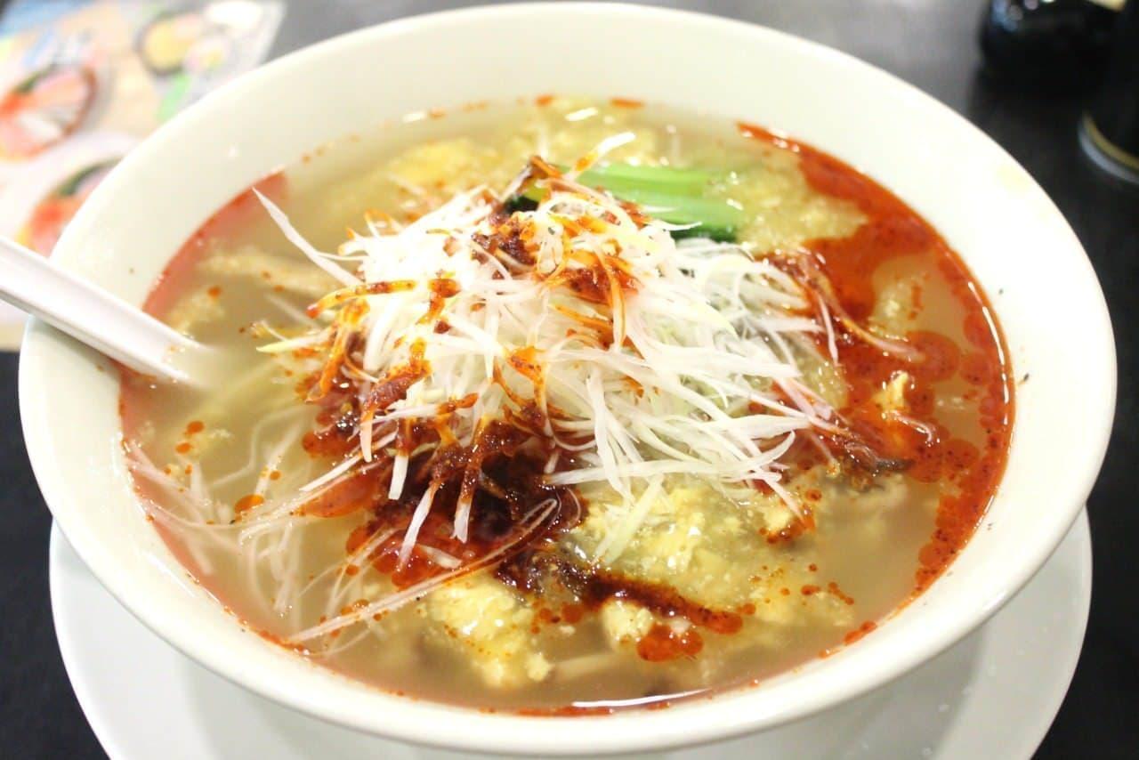 幸楽苑「酸辣湯麺」