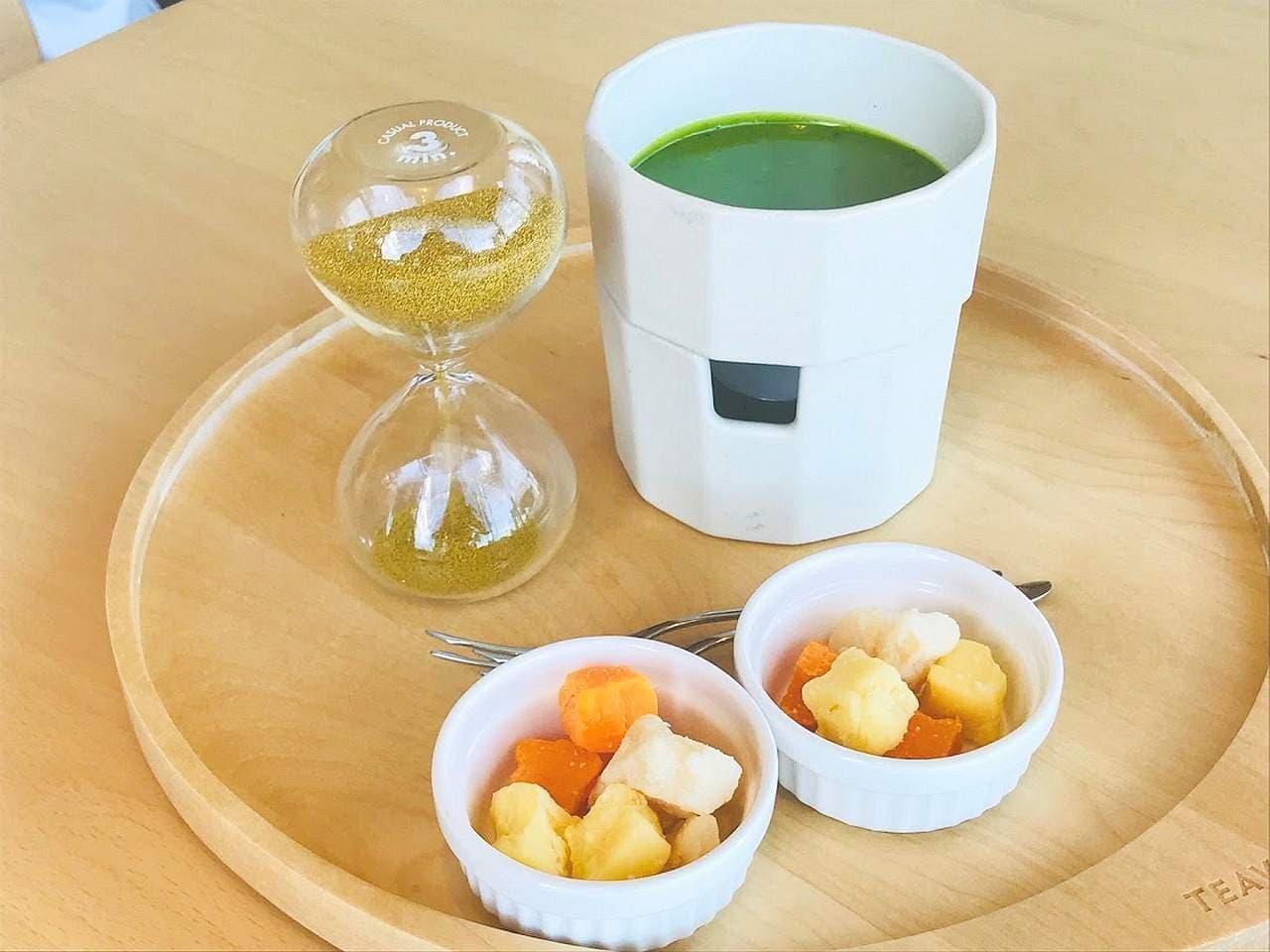 スターバックス リザーブ ロースタリー 東京「抹茶 ティー フォンデュ with 3種のチーズ」