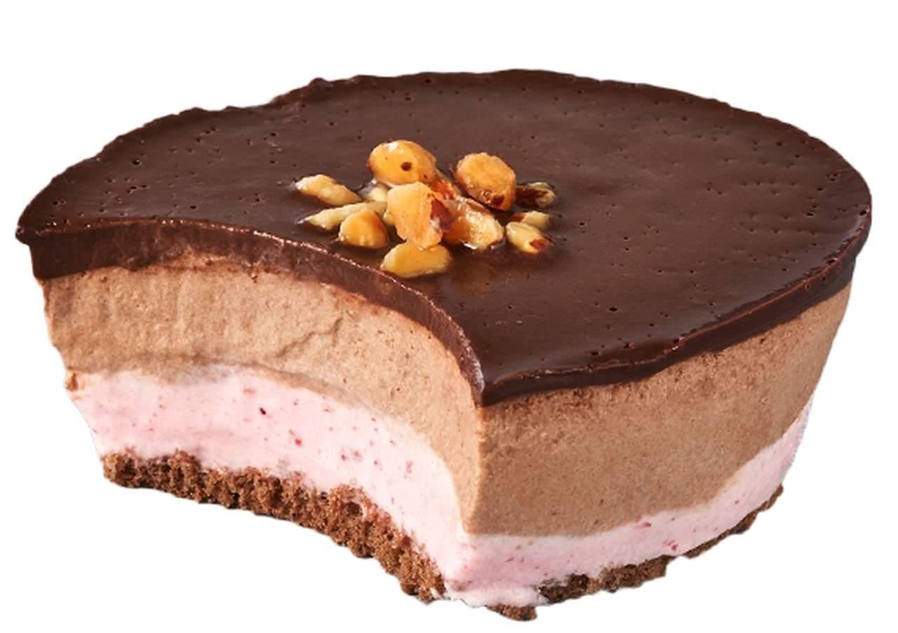 シャトレーゼ「糖質86%カットのムースケーキ ショコラ&フランボワーズ」