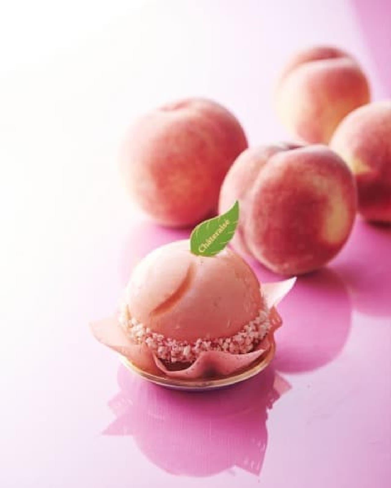 シャトレーゼ「まんまる白桃ケーキ」