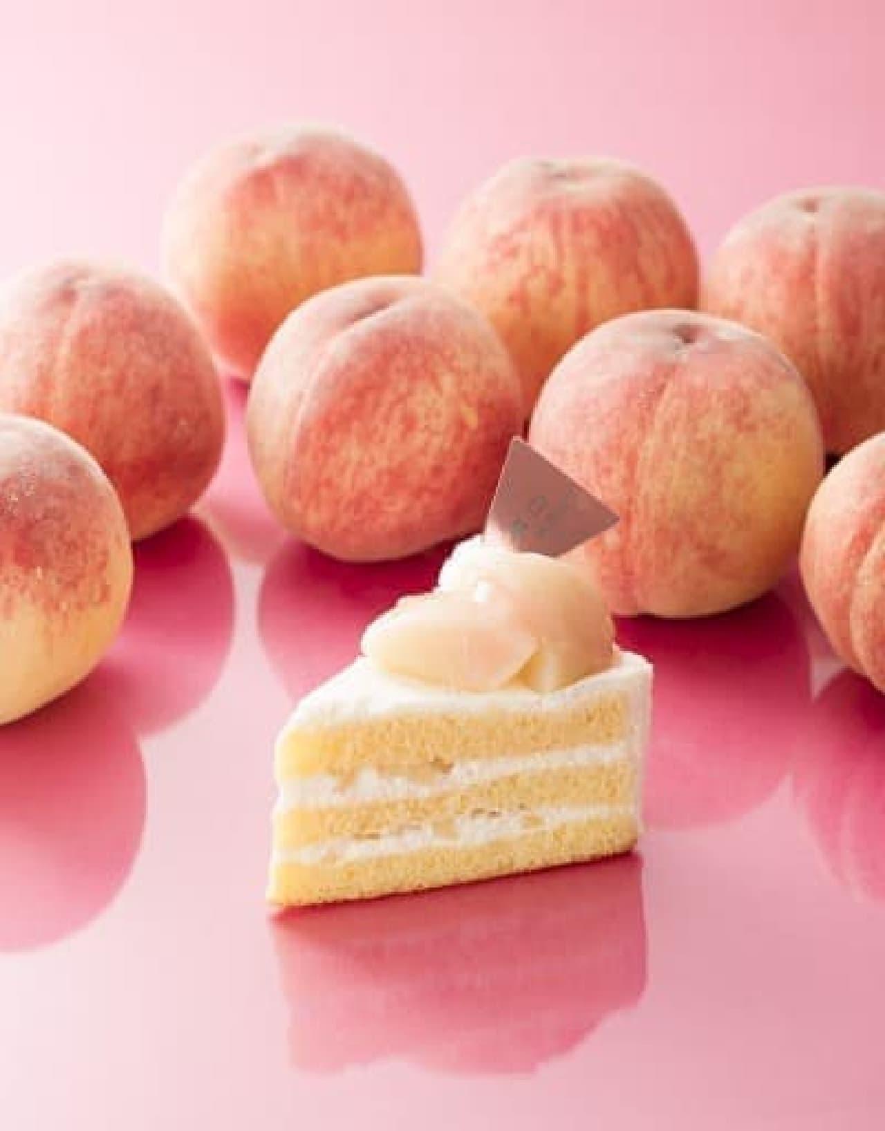 シャトレーゼ「山梨県産白桃のプレミアムショートケーキ」