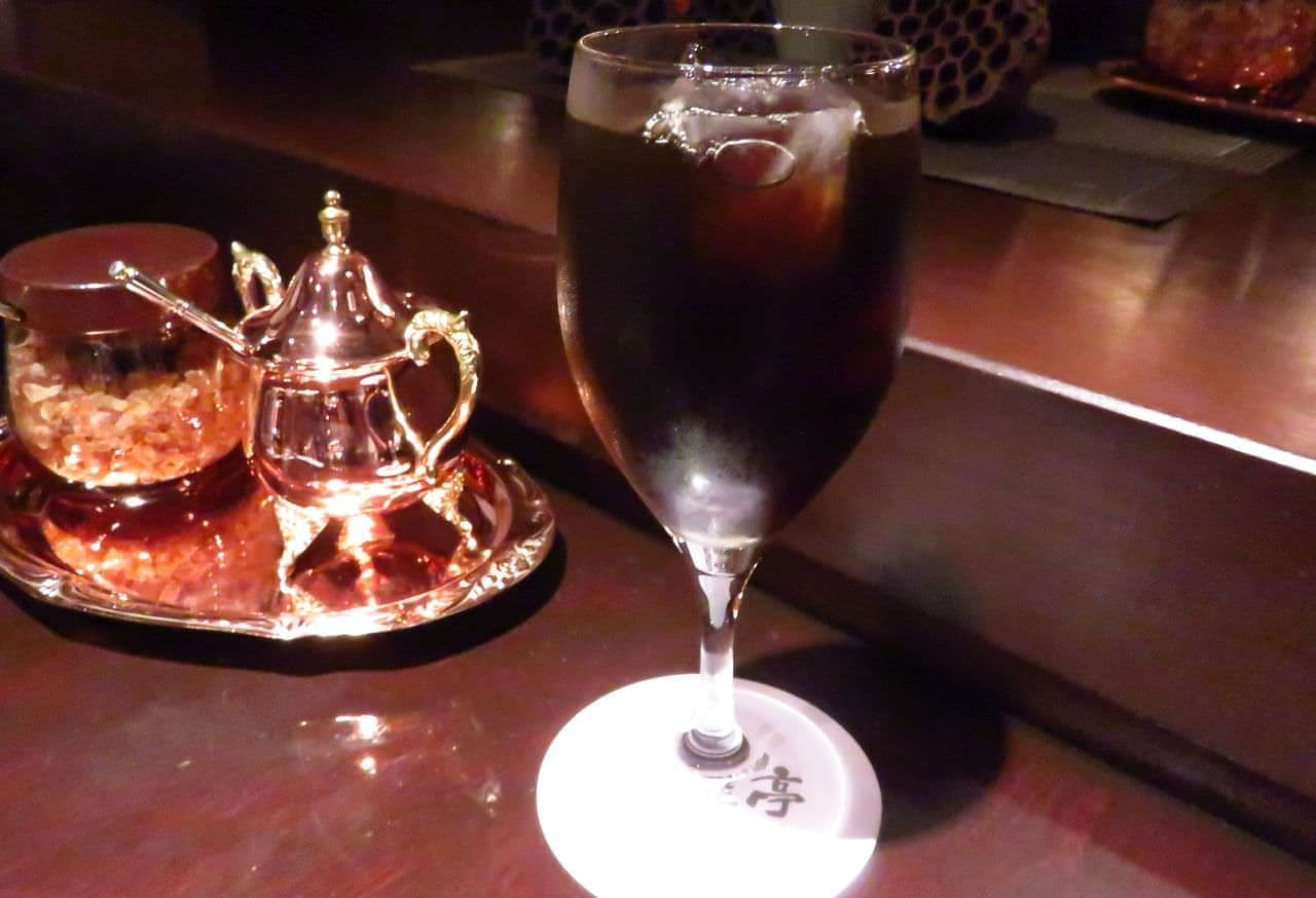 池袋「炭火煎珈琲 皇琲亭」のアイスコーヒー