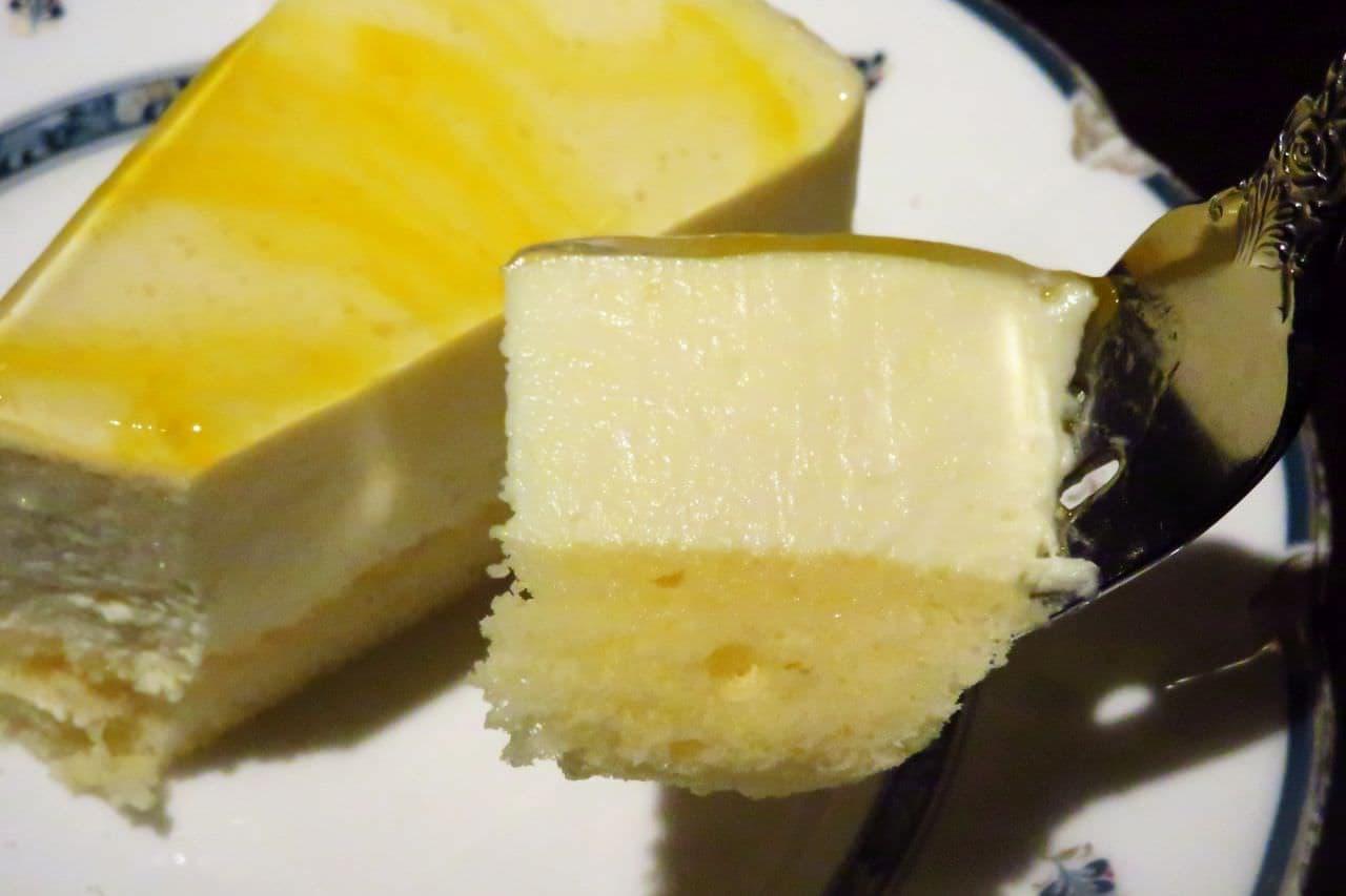 池袋「炭火煎珈琲 皇琲亭」の日向夏のレアチーズケーキ