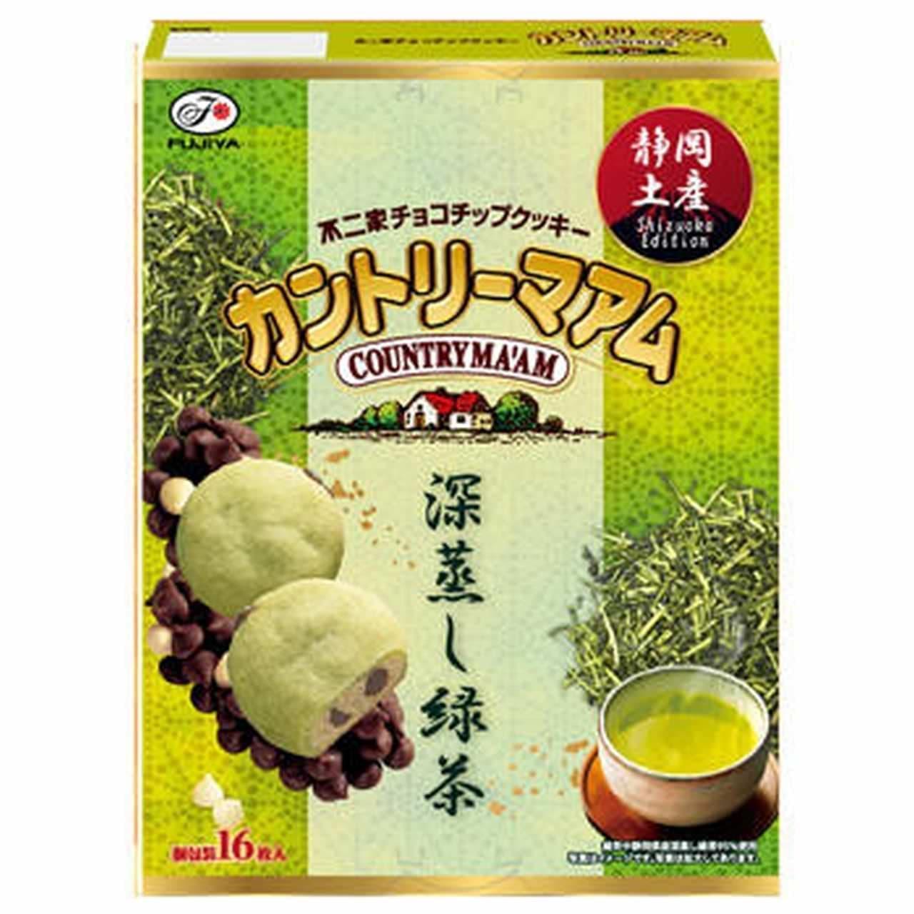 カントリーマアム「【静岡限定】16枚カントリーマアム(深蒸し緑茶)」