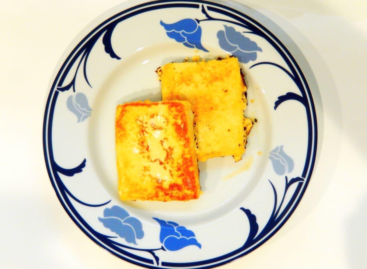 低糖質レシピ「高野豆腐のフレンチトースト」