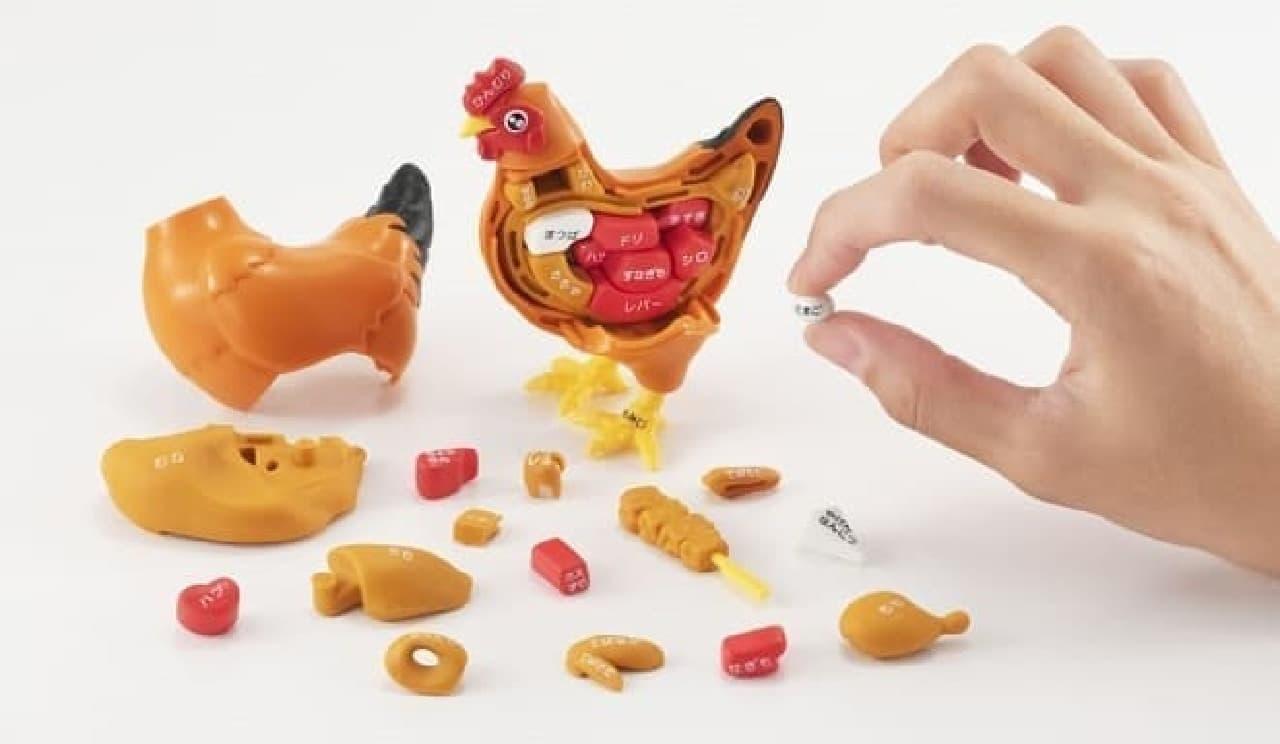 鶏の立体パズル「一羽買い!!焼き鳥パズル」