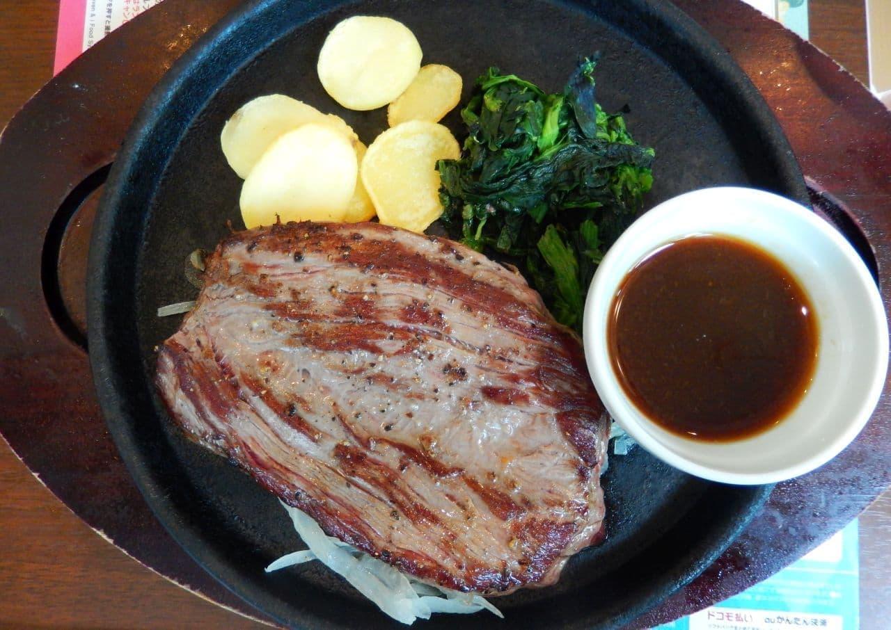 デニーズ「ビーフステーキ~赤身肉使用(約160g)」