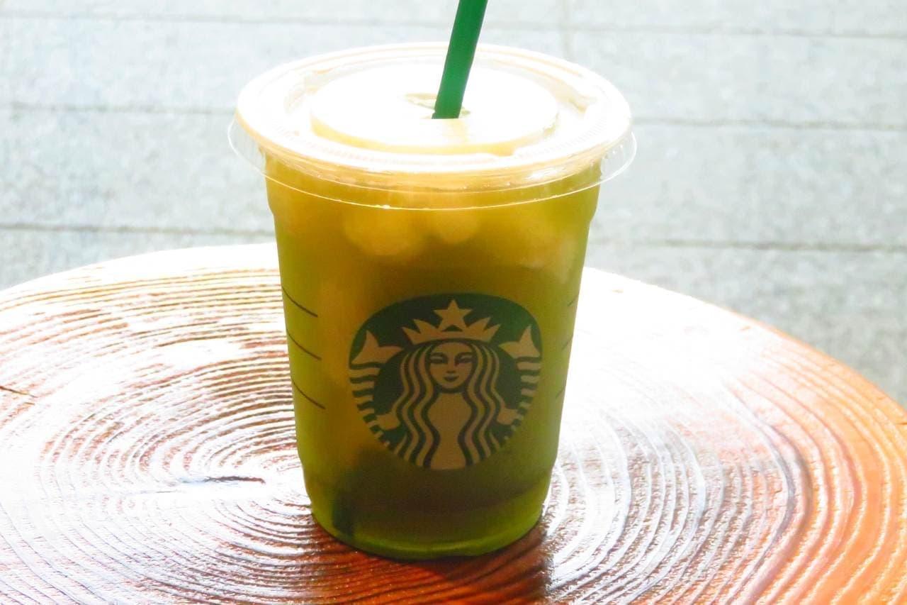 スターバックス 「ティバーナ フローズン ティー 香る煎茶×グリーン アップル」