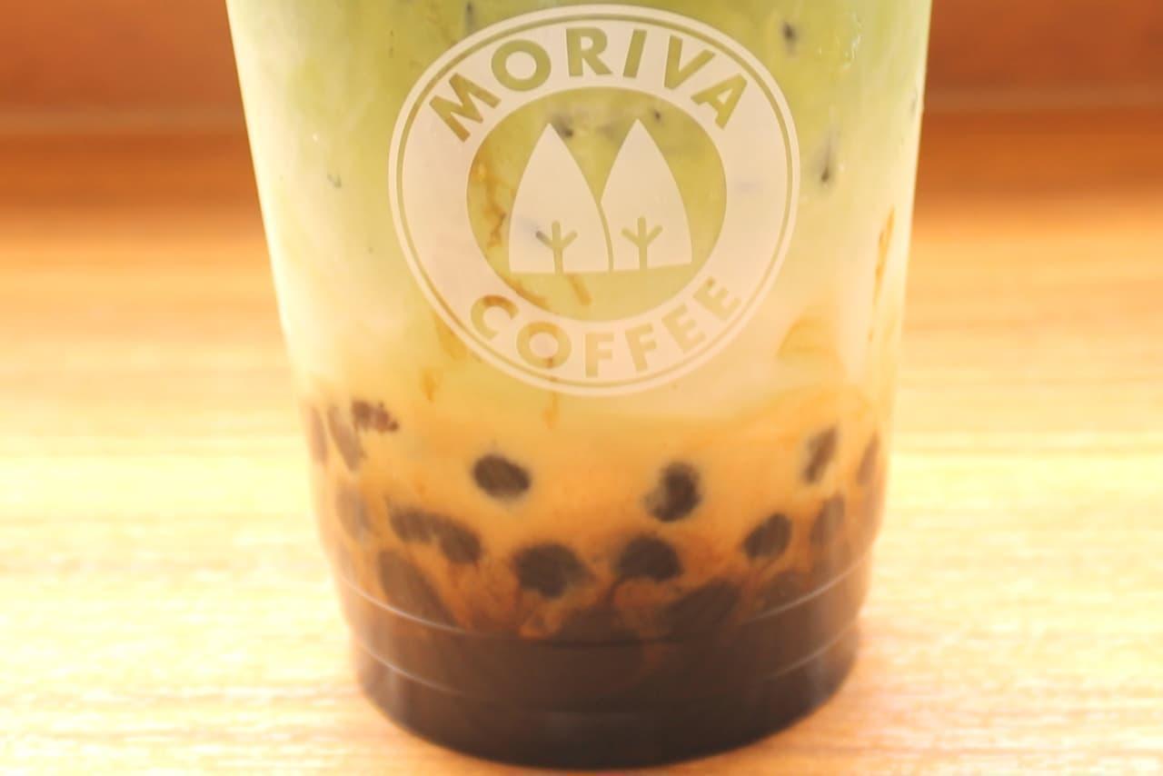 モリバコーヒー「黒糖タピオカの黒蜜抹茶ラテ」